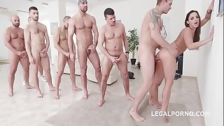 7on1 DAP Gangbang with Nutsack Deep Assfuck Princess Amirah Adara