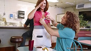 Dude bangs huge naturals mature waitress