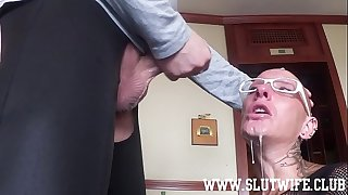 Submissive Mouth to mouth Headed Slave Girl Enjoys A Brutal Sloppy Facefuck