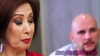 mature asian chick fucked by a huge dick