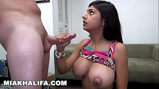 MIA KHALIFA - Mia Gets Big Facial After Getting Fingered And Sucking Dick
