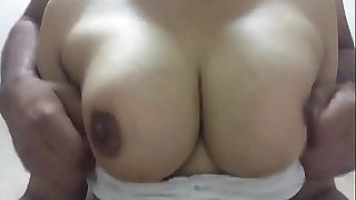 Ankita Having boobs massage from his stepbrother