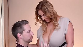 Professor fucks his Naturally Big-titted Wifey before Vacation