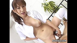 Asian slut with a huge ass getting ravaged real good